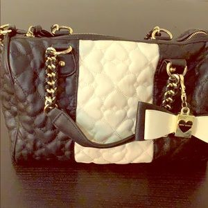 Betsey Johnson quilted satchel crossbody w/ wallet